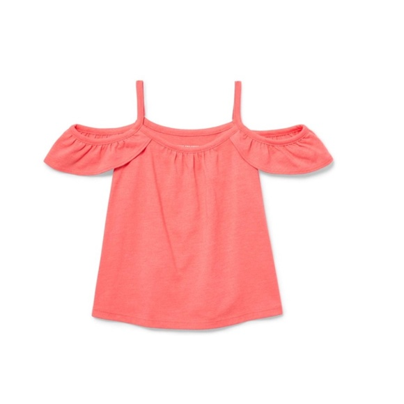 The Children's Place Cold Shoulder Ruffle Tank Top